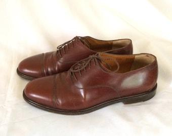 Men's Salvatore Ferragamo Brown Leather Oxfords Sz. 7 1/2 EE