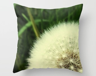 My love affair with Dandelions Pillow Cover, Indoor Throw Pillow Cover, Throw Pillow Cover, Throw Pillow, Pillow Cover