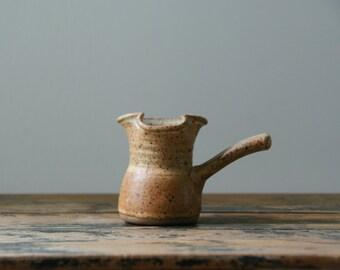 Earthen Maple Syrup Pourer/Creamer