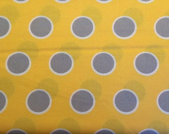 Moda fabric by the yard - Moda Mixologie yellow and gray fabric - #16116