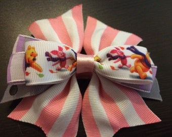 Winnie the Pooh and Piglet Hair Bow