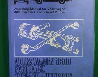 Vintage First edition Autopress 1965 -1970 Volkswagen 1600 Fastback ,Karmann Ghia workshop manual Kenneth Ball.