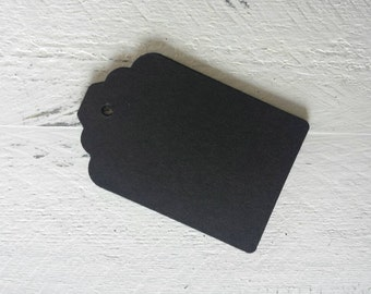Black Gift Tags-25- 50 or 100 Gift Tags-Hang Tags-Price Tags-Blank