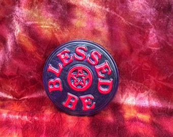 Hand made Blessed Be Plaque pagan, Wicca, Witch