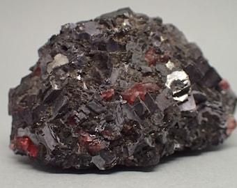 Galena with Rhodonite | Australia