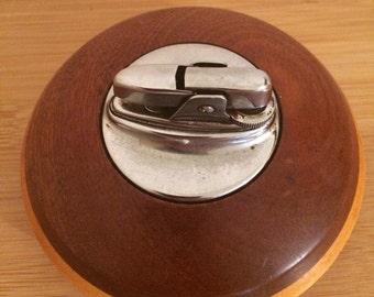 Ronson lighters, wooden table lighter, Reg. Trade mark, made in England.