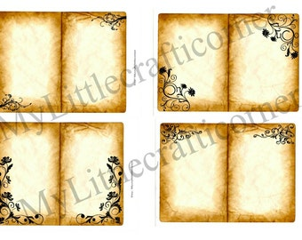 Vintage/Grungy look  Journal Pages, Tags, Pockets and Envelopes Digital Kit