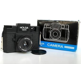 Vintage 70s 80s Holga 120S Film Camera with Original Box