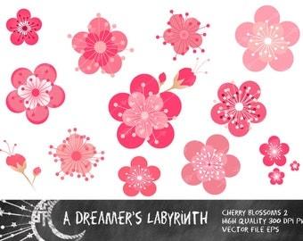 Cherry Blossoms 2 Digital Clip art
