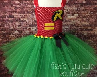 Robin tutu, Robin tutu dress, Robin dress, Robin costume, Robin Comic Con, Batman tutu, Batman costume, Batman party, superhero dress