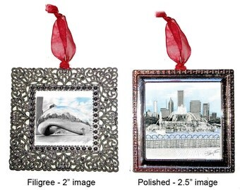 Chicago Ornaments: Bean, Navy Pier, Picasso, Buckingham Fountain, Art Institute