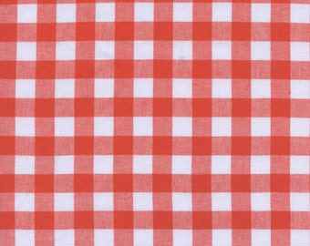 """1/2"""" Gingham in Coral- Checkers by Cotton + Steel"""