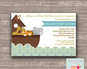 Noah's Arch Baby Shower/ Blessing Invitation