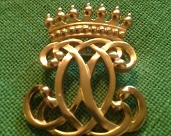 ANNE KLEIN Crown Brooch