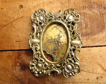 Antique Brass  Picture Frame - Victorian Shabby Chic Picture Frame