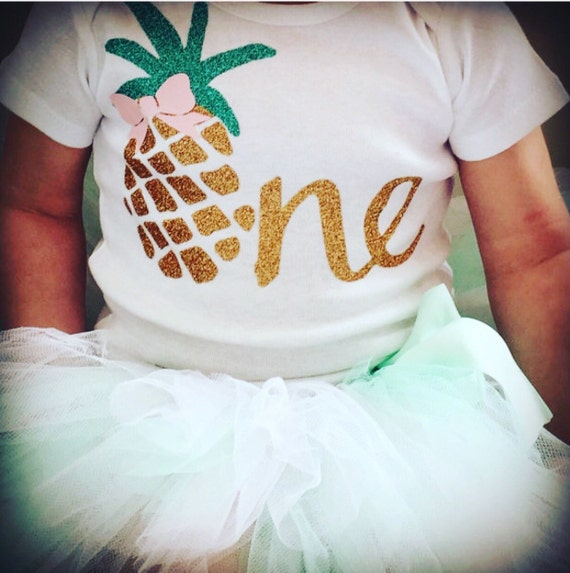Luau First Birthday Outfit Pineapple 1st Birthday Outfit For
