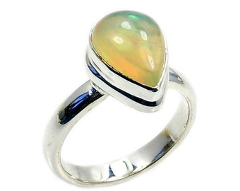 Eternal Flame Fire Ethiopian Opal & .925 Sterling Silver Ring Size 5.5 , AD918