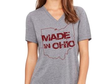 Made In Ohio Gray V-Neck