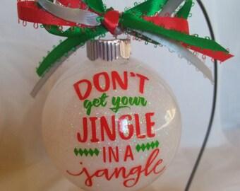Custom Ornament, Handmade Ornament, Vinyl Ornament, Christmas Decor, Holiday Decor, Gift For Her, Gift Idea, Ornaments, Christmas Ornament,