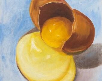 Egg Still Life Painting, Original