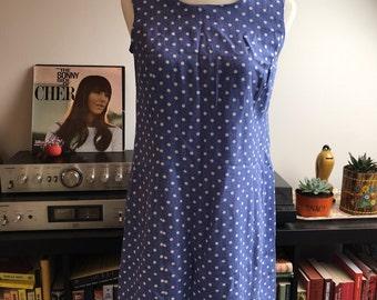 Vintage polka dot shift dress LARGE