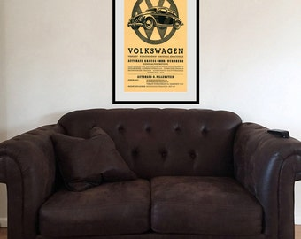 Reprint of a 1930s VW Poster