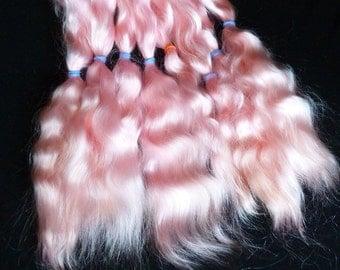 Combed mohair / 8-9 inches /Doll Hair / Combed mohair for doll hair / Blythe Doll hair