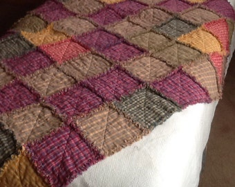 Pastel Homespun Rag throw