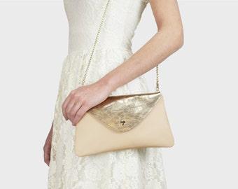 Envelope bag Emma - nude | Gold