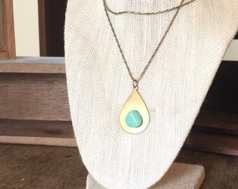 Chrysocolla Stone Necklace