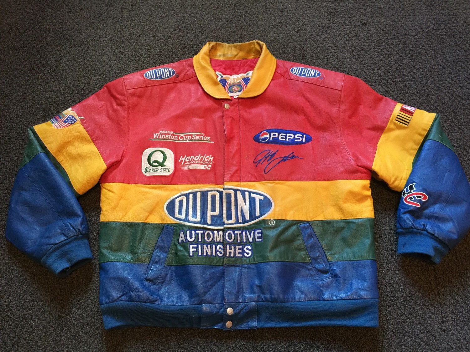 Jeff gordon leather jacket