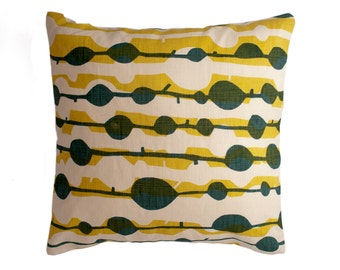 Decorative Pillow Cover - Hand Screen Printed - Fits 18x18 Pillow