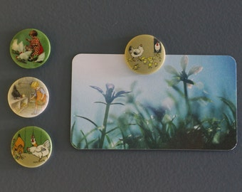 Lot of magnets or magnets series hens