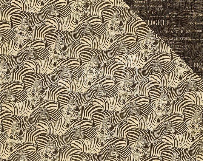 2 Sheets of SAFARI ADVENTURE Scrapbook Paper by Graphic 45 - Natural Habitat