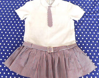 girl dress vintage 60s (7-8 years) made in italy