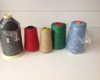 Vintage sewing Thread - assorted colors