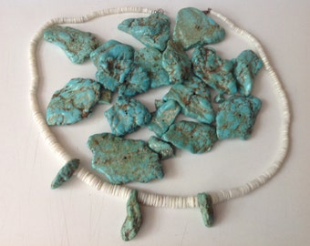 Turquoise rocks and necklace