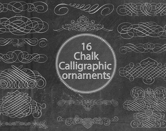Chalk Calligraphic Ornaments