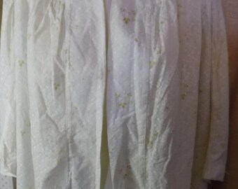 Victorian White with Green Print Combing Jacket
