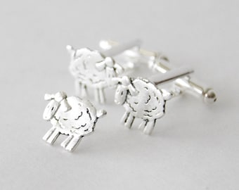 Gifts for Men, Men's Accessories, Sheep Cufflinks Set, Sheep Accessories, Cufflinks Tie Tack Set, Lamb Cufflinks, Sheep Pin, Sheep Tie Tack