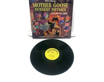 Mother Goose Nursery Rhymes LP Record Walt Disney 1964