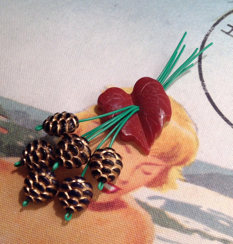 neuheit twin peaks acorn kupfer konfetti flaked 1940er jahre. Black Bedroom Furniture Sets. Home Design Ideas