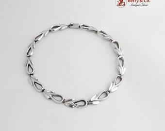 Mexican Modernist Necklace Sterling Silver Openwork