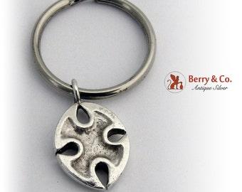 Vintage Sterling Silver Keychain