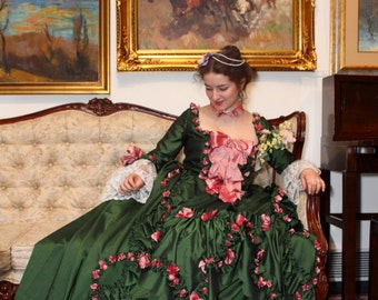 18th century gown, Madame Pompadour
