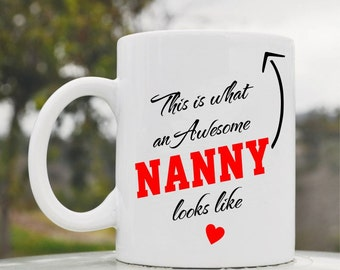 Slap-Art™ This is what an awesome nanny looks like 11oz coffee mug cup