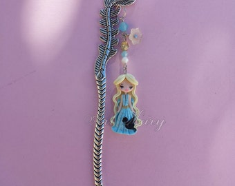 bookmark with Celesi in fimo, polymer clay