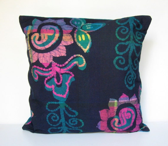 Throw Pillows Emoji : Batik Pillow Cover Summer Pillow Pillow Cover Throw Pillow