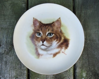 Ginger Tabby Cat Plate