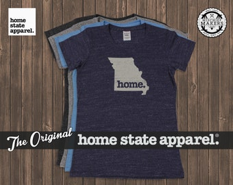 Missouri Home. T-shirt- Womens Cut